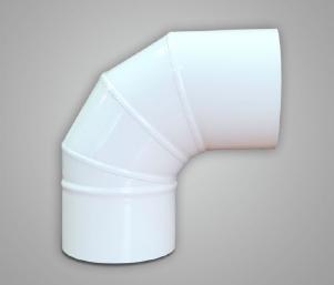 Отвод, сталь, эмаль, диаметр 150мм, угол поворота 45°, 90°