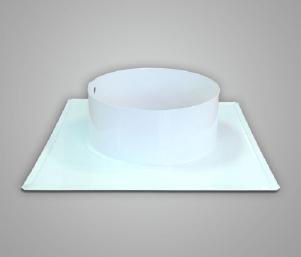 Фланец (вставка с фланцем), сталь, эмаль, диаметр 150мм