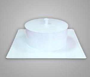 Прочистка (зольник), сталь, эмаль, диаметр 140мм