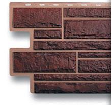Авва цокольный сайдинг альта-профиль жженый камень.