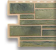 Акриловый цокольный сайдинг альта-профиль малахит камень.