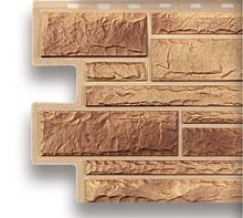 Акрил цокольный сайдинг альта-профиль кварцит камень.