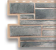 Цокольный сайдинг под камень топаз (светло-серый)