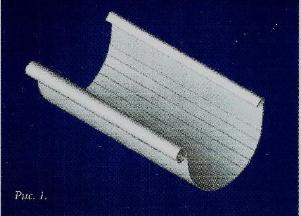 Водосточные системы из пластика желоб пвх 4м коричнево-белый
