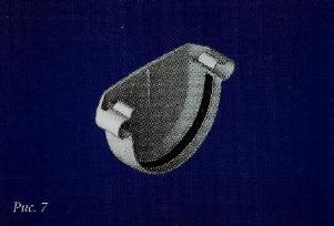 Водосточные системы из пластика заглушка пвх белая/коричневая
