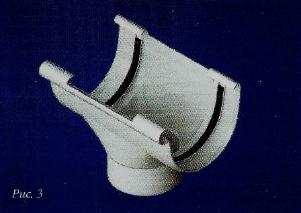 Водосточные системы из пластика воронка 82мм пвх белая/коричневая