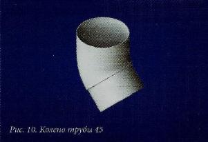 Водосточные системы из пластика колено трубы 45гр. пвх белое/коричневое