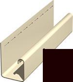 Софит виниловый J –профиль для софита темно-коричневого.