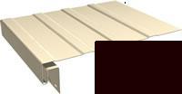 Софит виниловый J –фаска для софита винилового. Цвет планки софита темно-коричневый.