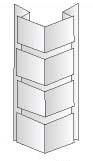 Наружный угол 110х460х30мм - Цокольный сайдинг