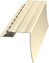 Плака виниловый сайдинг околооконная 3,05м белая/цветная