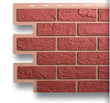 Фасадные панели кирпич красный