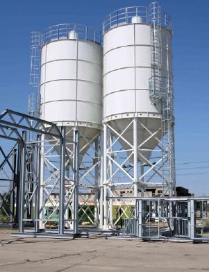 Силосные емкости (Силосы) и от 10 до 1000 тонн и прирельсовые склады хранения цемента от производителя