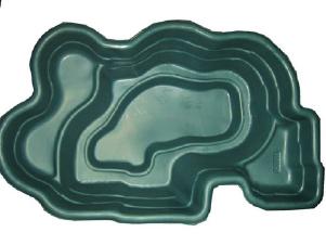 Декоративный цветной садовый пластиковый пруд 900л. Цвет: Зеленый