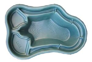 Декоративный цветной садовый пластиковый пруд 600л. Цвет: Зеленый