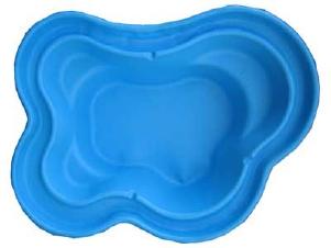 Декоративный цветной садовый пластиковый пруд 2300л. Цвет: Синий.
