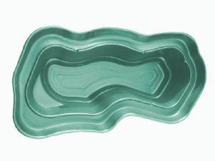 Декоративный цветной садовый пластиковый пруд 3750л. Цвет: Зеленый.