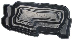 Декоративный пластиковый садовый пруд 4800л. Цвет: Черный.