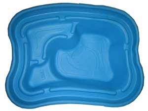 Декоративный цветной пластиковый садовый пруд 750л.(New) Цвет: Синий.