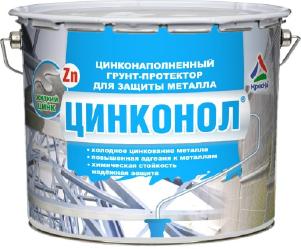 Цинконол - цинконаполненный грунт-протектор для металла, евроведро 6кг