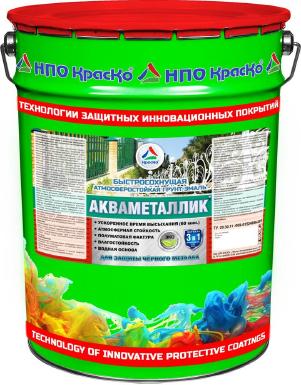 Акваметаллик - водная антикоррозионная акриловая грунт-эмаль по металлу. Тара 20кг