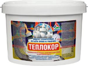 Теплокор - жидкая теплоизоляция металла. Тара 10л