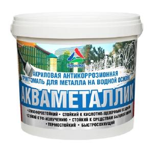 Акваметаллик - водная антикоррозионная акриловая грунт-эмаль по металлу. Тара 3кг