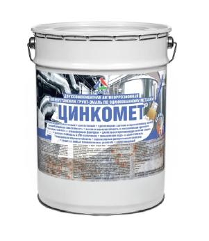 Цинкомет — защитно-декоративная грунт-эмаль для оцинкованного металла. Тара 6кг
