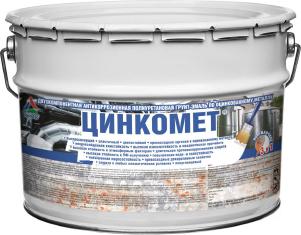 Цинкомет - полиуретановая грунт-эмаль по оцинковке. Тара 12кг