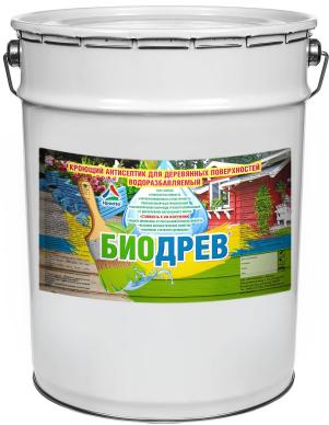 Биодрев - кроющий антисептик для деревянных поверхностей водоразбавляемый, 20кг