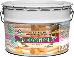 Древогрунт–алкидно-акриловый состав для грунтования изделий из массива дерева, 10кг