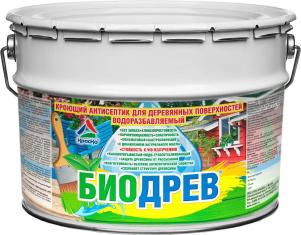 Биодрев - кроющий антисептик для деревянных поверхностей водоразбавляемый, 10кг