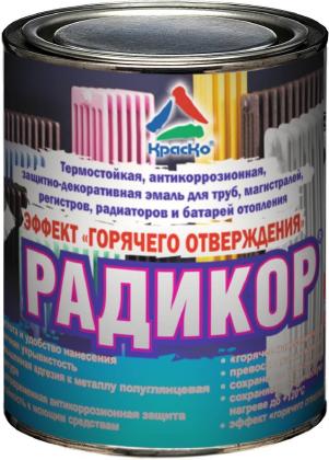 Радикор — термостойкая краска для радиаторов и батарей отопления с эффектом горячего отверждения, 0.9кг