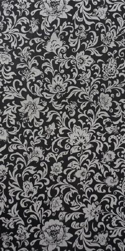 Стеновая панель Узоры черные 500х2700мм. офсетная печать