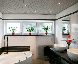 Панель потолочная 240х3000мм белый лак хром
