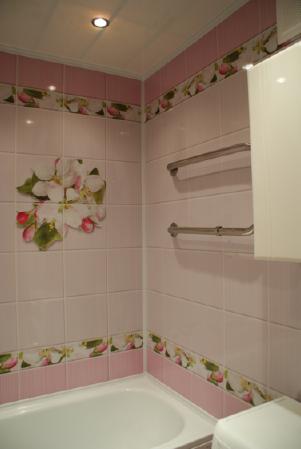 Панели пвх с 3d рисунком UNIQUE коллекция Яблоневый цвет розовый