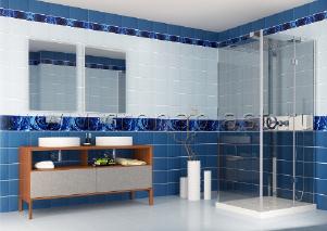 Панели пвх с 3d рисунком UNIQUE коллекция Капли росы синий