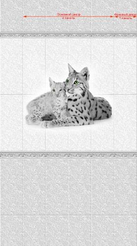 Декоративная панель VENTA Exclusive «Сибирь Рысь» 0.25x2.7