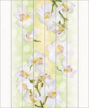 """Потолочная панель ПВХ """"Орхидеи"""" 2000x2000мм"""