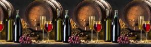 """Кухонный фартук """"Вино"""" из АБС-пластика 3000*600*1,5мм"""