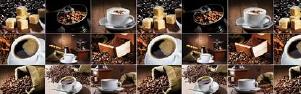 "Кухонный фартук ""Кофе"" из АБС-пластика 3000*600*1,5мм"