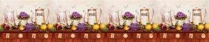 "Кухонный фартук ""Лаванда"" из АБС-пластика 3000*600*1,5мм"