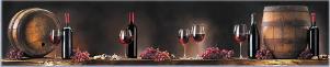 "Кухонный фартук ""Красное вино"" из АБС-пластика 3000*600*1,5мм"