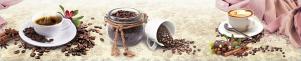"Кухонный фартук ""Кофе с корицей"" из АБС-пластика 3000*600*1,5мм"