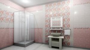 Панели 3D ПВХ «Натали» розовая 0,25*2,7м