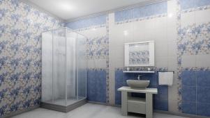 Панели 3D ПВХ «Натали» голубая 0,25*2,7м