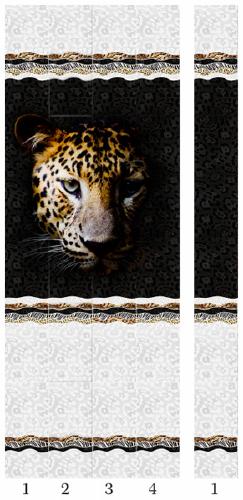 Панели пвх с 3d рисунком Panda Леопард