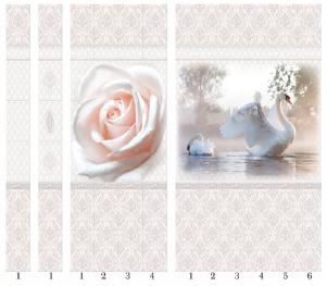 Панели пвх с 3d рисунком Panda Дамасский узор