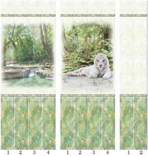Панели пвх с 3d рисунком Тропики