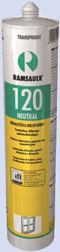 RAMSAUER 120 NEUTRAL PREMIUM Нейтральный силиконовый долговременно эластичный, окрашиваемый герметик премиум-класса для герметизации деформационных монтажных швов в строительстве